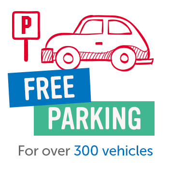 Free parking for over 300 cars